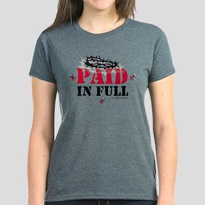 Jesus Paid In Full Women's Dark T-Shirt