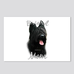 Briard Mom2 Postcards (Package of 8)