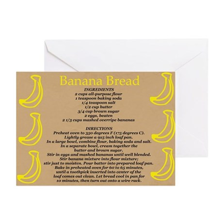 Banana Bread Recipe Greeting Cards (Pk of 20)