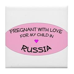 Russia Adoption Tile Coaster