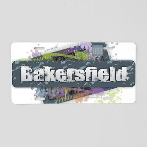 Bakersfield Design Aluminum License Plate