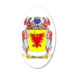 Oberman 35x21 Oval Wall Decal