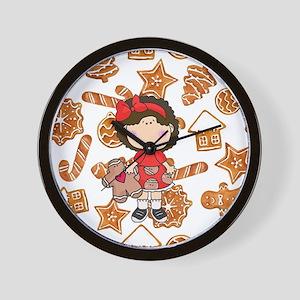 Gingerbread Girl Wall Clock