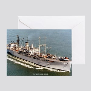 USS TIDEWATER Greeting Card