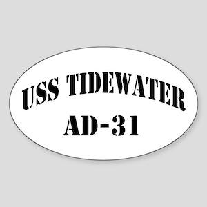 USS TIDEWATER Sticker (Oval)