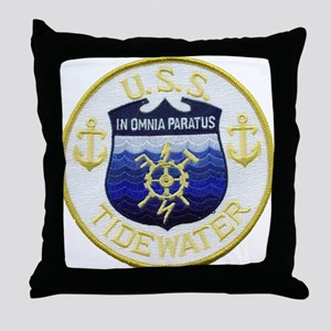 USS TIDEWATER Throw Pillow