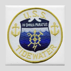USS TIDEWATER Tile Coaster