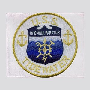 USS TIDEWATER Throw Blanket