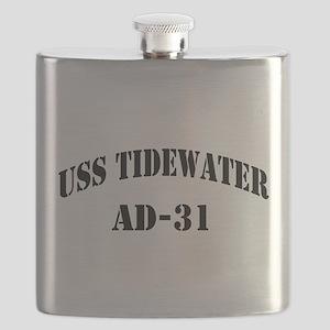 USS TIDEWATER Flask