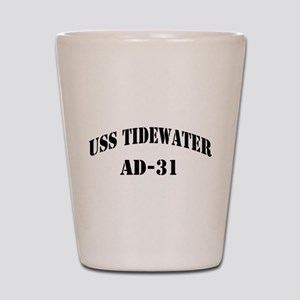 USS TIDEWATER Shot Glass
