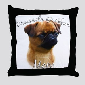 Brussels Mom2 Throw Pillow