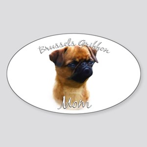 Brussels Mom2 Oval Sticker