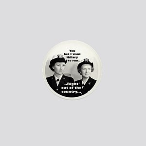 Anti Hillary Run Mini Button