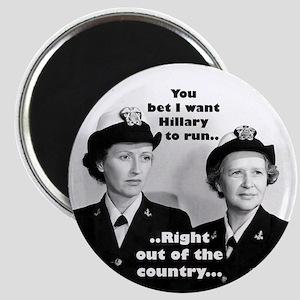Anti Hillary Run Magnet