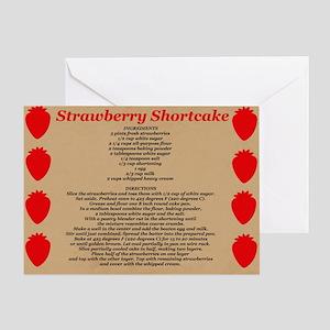 Strawberry Shortcake Recipe Greeting Card