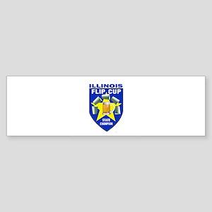 Illinois Flip Cup State Champ Bumper Sticker