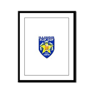Illinois Flip Cup State Champ Framed Panel Print
