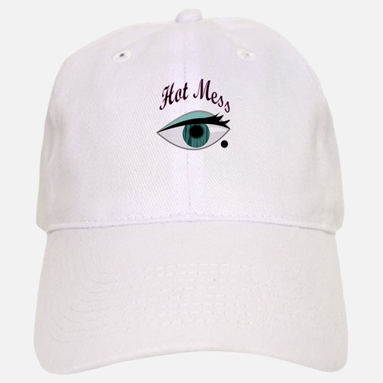 girly eye BFF hot mess Baseball Baseball Cap