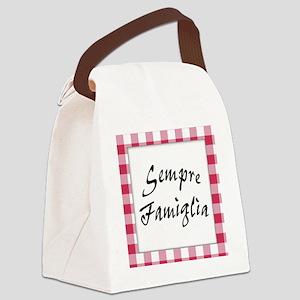 Sempre Famiglia Canvas Lunch Bag