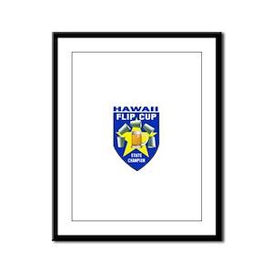 Hawaii Flip Cup State Champio Framed Panel Print