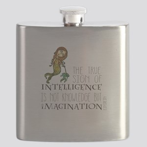 The True Sign of Intelligence is Imagination Flask
