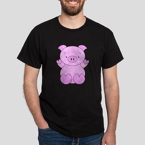 Cute Cartoon Pig Dark T-Shirt