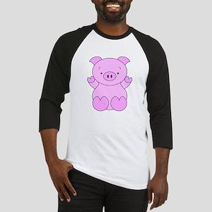 Cute Cartoon Pig Baseball Jersey