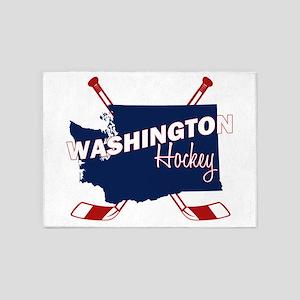 Washington Hockey 5'x7'Area Rug