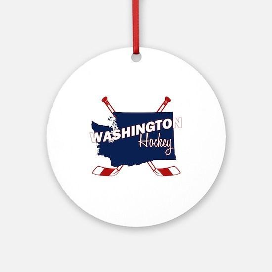 Washington Hockey Round Ornament