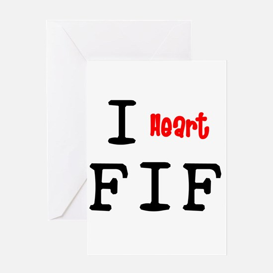 heartFIF2 Greeting Cards