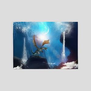 Dragon in a magical fantasy landscape 5'x7'Area Ru