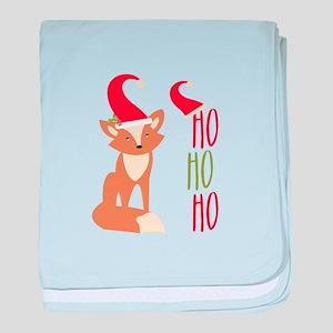 Ho Ho Ho Fox baby blanket