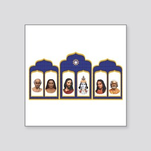 Standard Altar with 6 Gurus Sticker