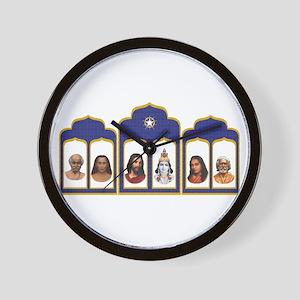 Standard Altar with 6 Gurus Wall Clock