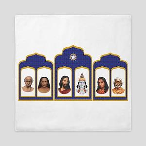 Standard Altar with 6 Gurus Queen Duvet