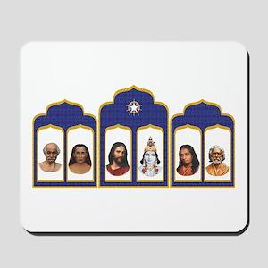 Standard Altar with 6 Gurus Mousepad