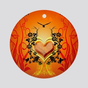 Awesome hearts Round Ornament