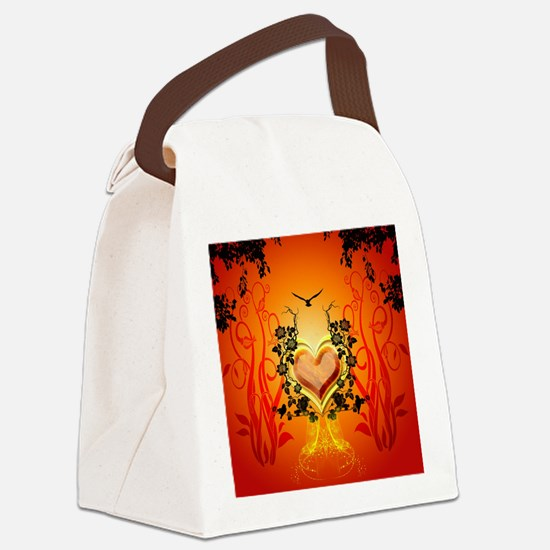 Awesome hearts Canvas Lunch Bag