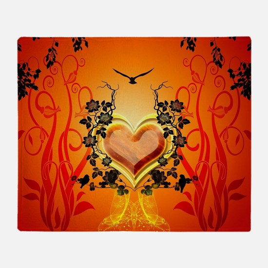 Awesome hearts Throw Blanket