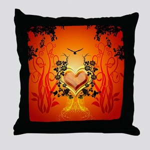 Awesome hearts Throw Pillow