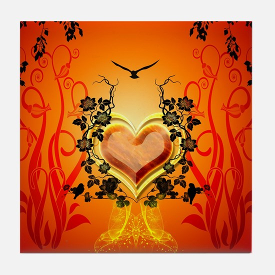 Awesome hearts Tile Coaster
