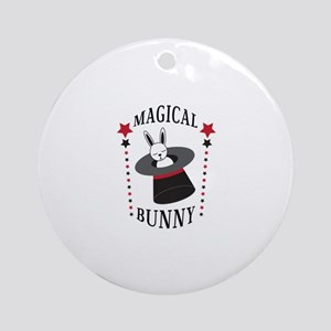 Magical Bunny Round Ornament
