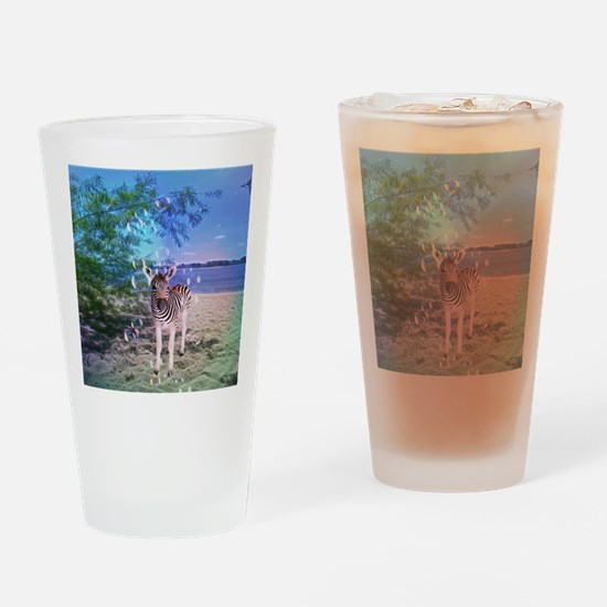 Cool Zebras Drinking Glass