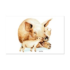Pig and Piglet Posters