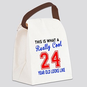 Really Cool 24 Birthday Designs Canvas Lunch Bag
