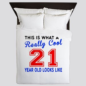 Really Cool 21 Birthday Designs Queen Duvet