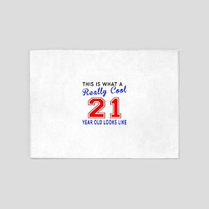 Really Cool 21 Birthday Designs 5'x7'Area Rug