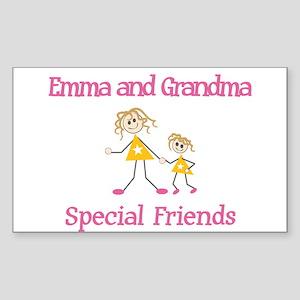 Emma & Grandma - Friends Rectangle Sticker
