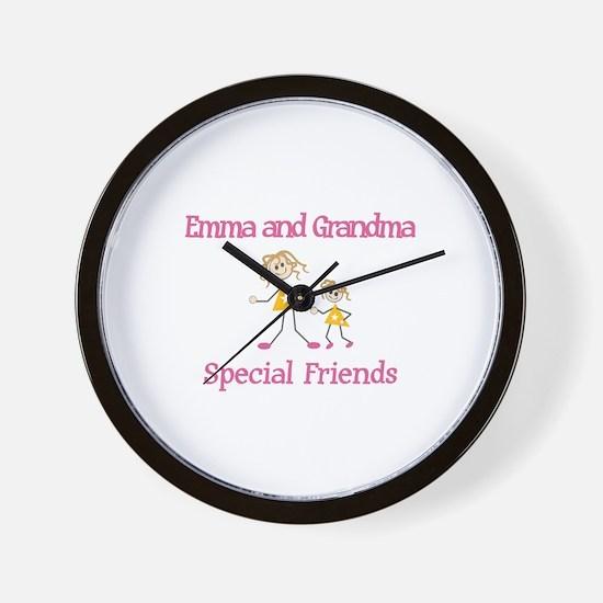 Emma & Grandma - Friends Wall Clock