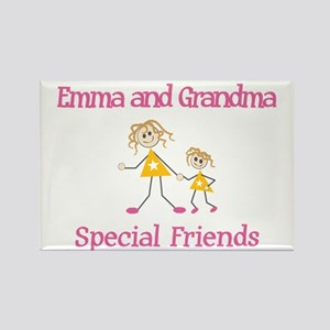 Emma & Grandma - Friends Rectangle Magnet (10 pack